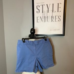 Ann Taylor loft 10P Blue GUC dress shorts